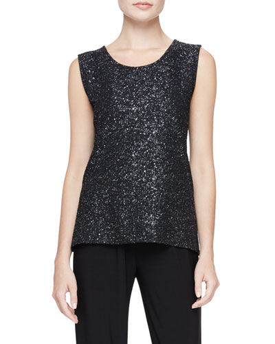 Starry Night Metallic Tank, Petite