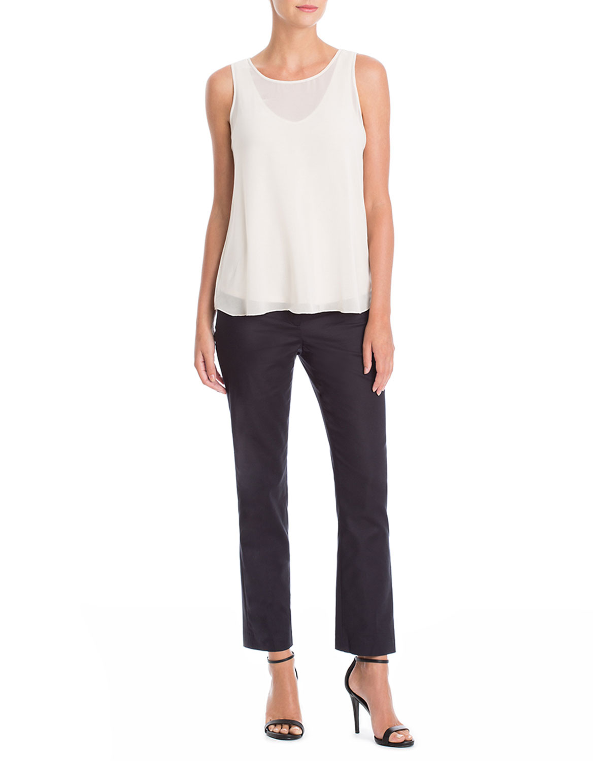 The Perfect Front-Zip Ankle Pants