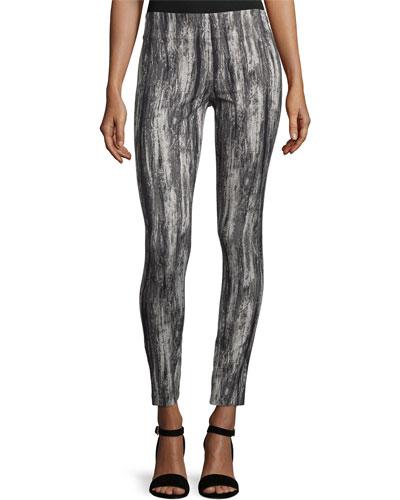 Patterned Slim Pant, Black Multi