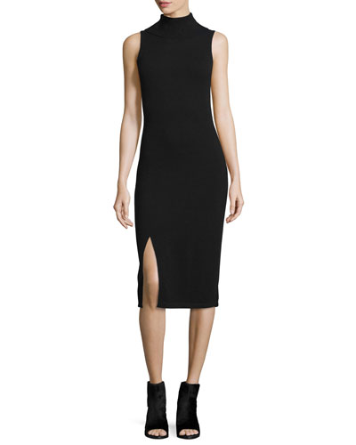 Cashmere Sleeveless Turtleneck Dress