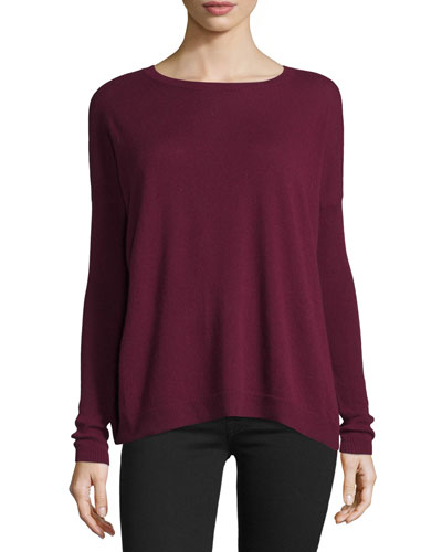Cashmere Lace-Up Pleat Back Sweater