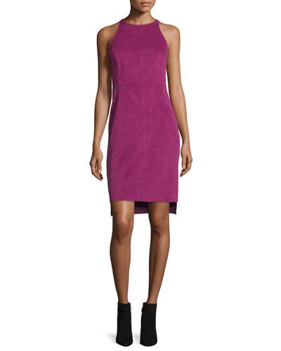 Ultrasuede Sleeveless Dress, Magenta