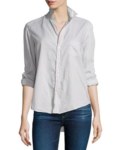 Eileen Button-Front Shirt, Stone
