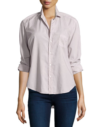 Eileen Button-Front Shirt, Dusty Pink