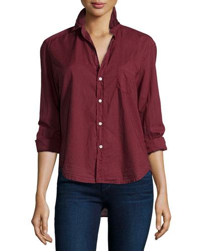 Eileen Button-Front Shirt, Vamp