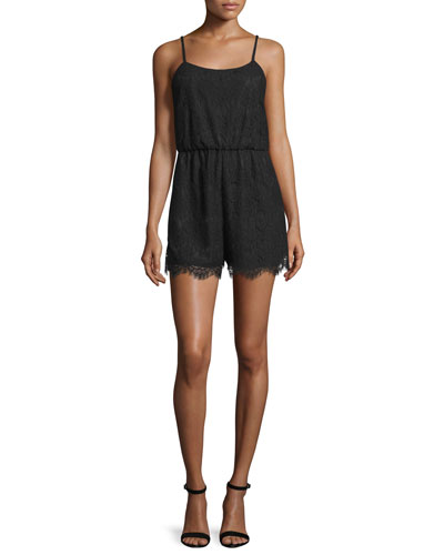 Cassia Sleeveless Lace Romper