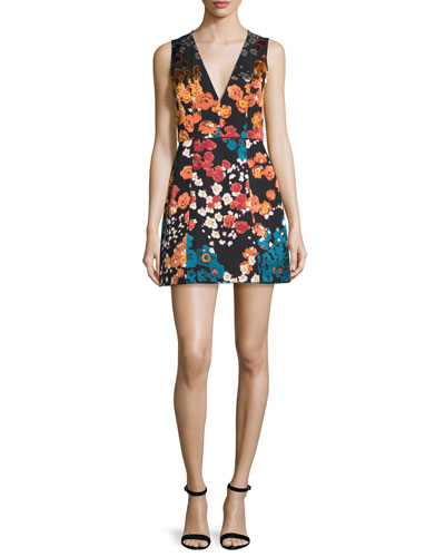Patty Floral-Print Sleeveless Minidress