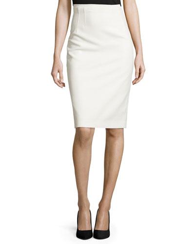 Beatrice Pencil Skirt, White