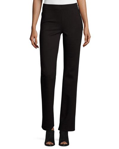 Lovelean Straight-Leg Pants, Black
