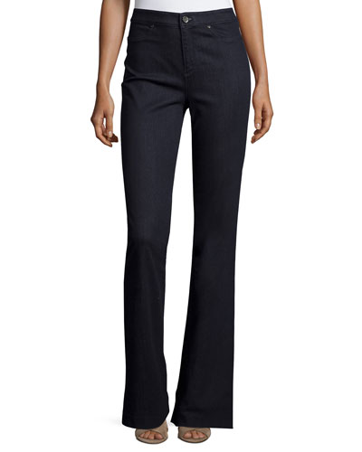 Joyce High-Rise Flare-Leg Jeans, Dark Night Wash
