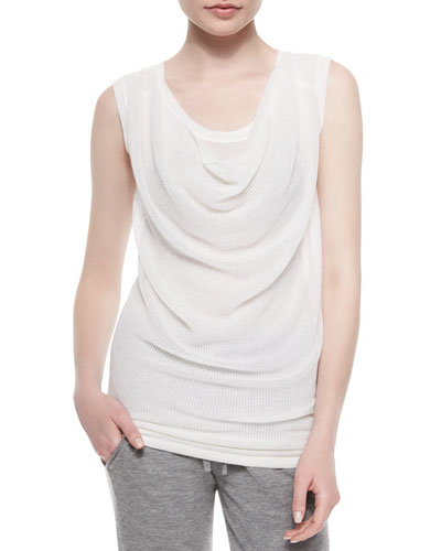 Draped Layered-Front Top