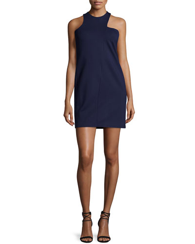 Cut-Away Shoulder Sheath Dress, Midnight
