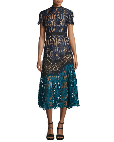 Floral-Lace Prairie Midi Dress