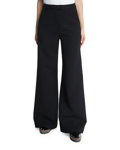 Ariana Wide-Leg Trousers, Black