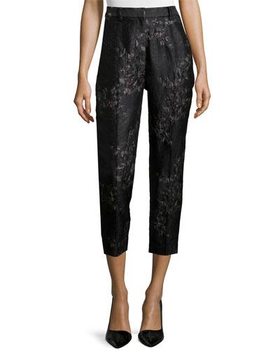 Menswear Tailored Creased Trouser, Black Asphalt