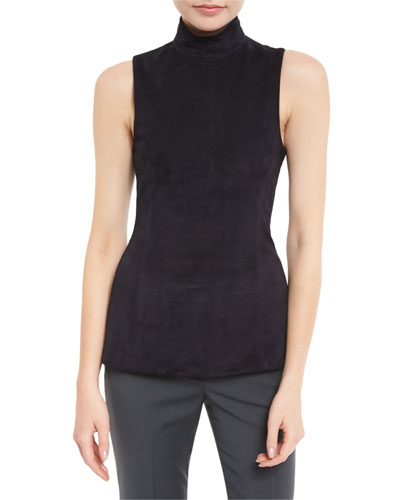 Eulia Tilde 2 Suede Mock Neck Top