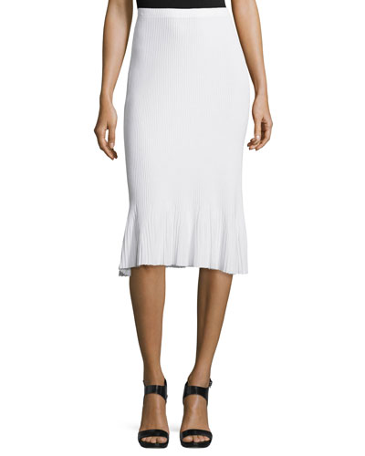 Jurilo Prosecco Ribbed-Knit Pencil Skirt