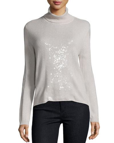 Cashmere Turtleneck Sweater, Buff