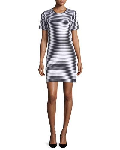 Cherry Striped T-Shirt Dress