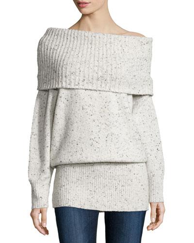 Femie Oversized Cowl-Neck Tunic Sweater