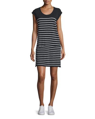 Kaelem Mariner-Stripe Slub T-Shirt Dress