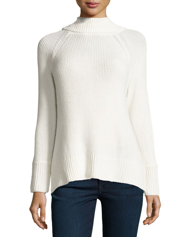 Baira Turtleneck Sweater, Porcelain