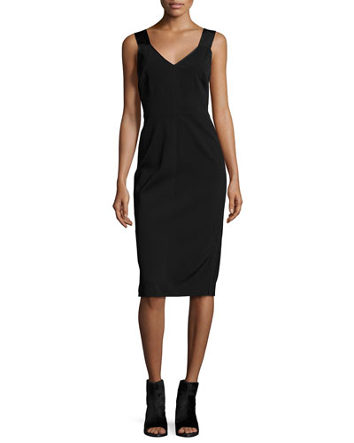 Joanne Stretch Tank Dress, Black