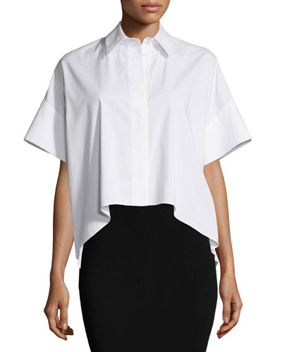 Edyth High-Low Short-Sleeve Shirt