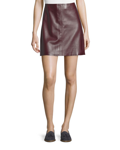 Irenah Wilmore Leather Miniskirt