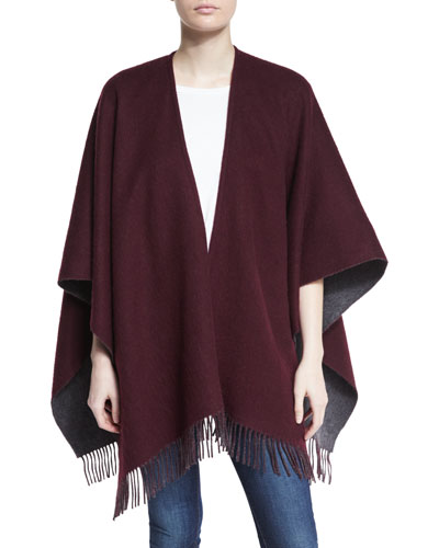 Wool Felt Double-Face Wrap, Port