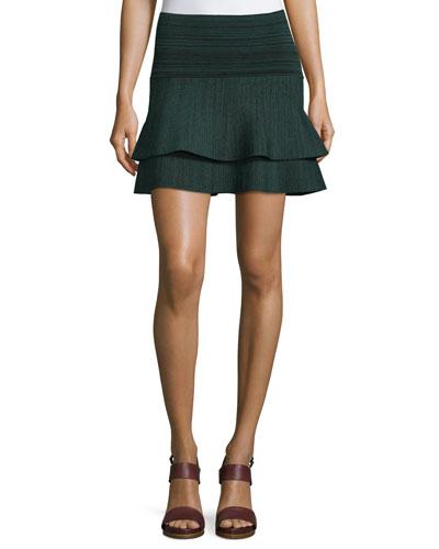Cebolla Space-Dye Technical-Knit Miniskirt