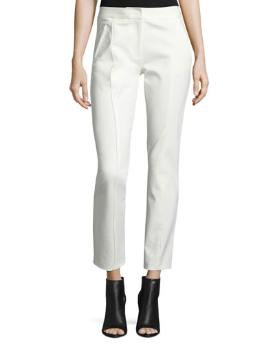 Vanner Slim Ankle Pants, New Ivory