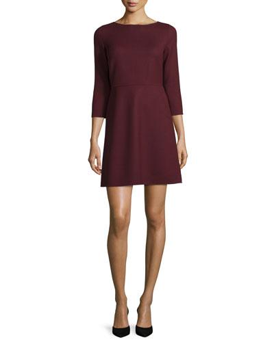 Kamillina Saxton 3/4-Sleeve Dress, Sumac