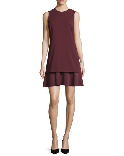 Malkan Layered Sleeveless Dress, Sumac