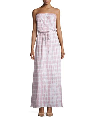 Cahya Tie-Dye Strapless Maxi Dress