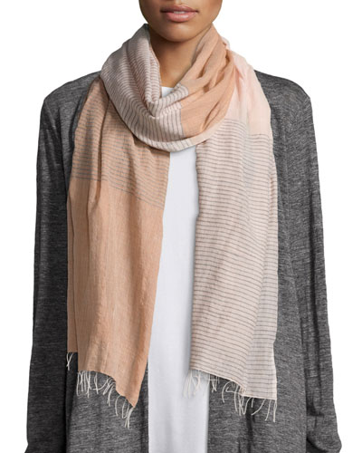 Hand-Loomed Color Shift Scarf, Dune