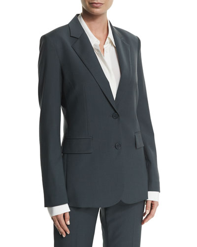 Aaren Wool-Blend Jacket, Dark Slate