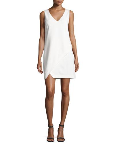 Jenn Sleeveless Shift Dress, Ivory