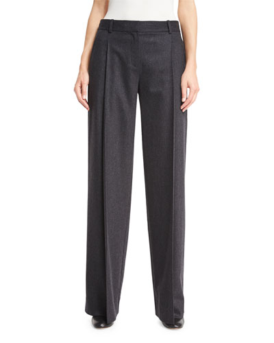Stanton Wide-Leg Stretch-Wool Pants
