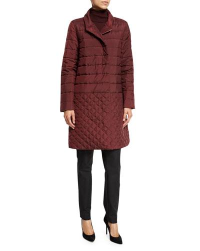 Monique Reversible Puffer Coat, Claret