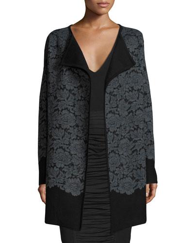 Jeraldine Floral Lace Car Coat