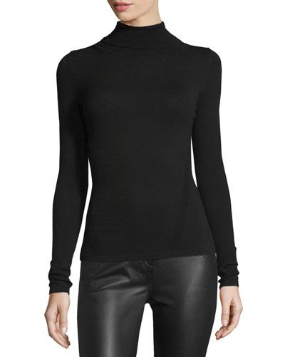 Jelena Turtleneck Sweater, Black