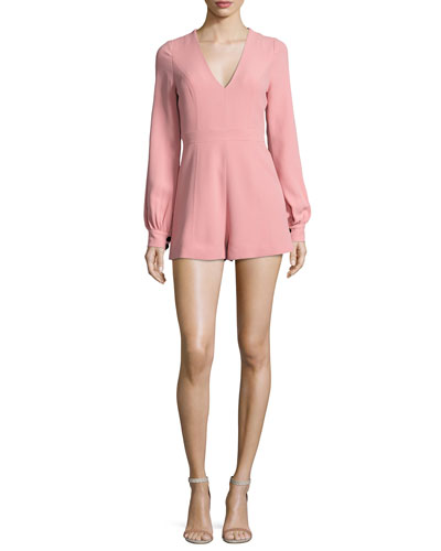 Kourtney Long-Sleeve Romper