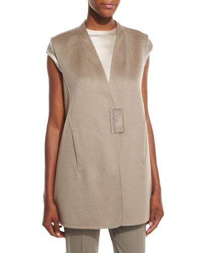 Kingsley Cashmere Vest, Cobblestone