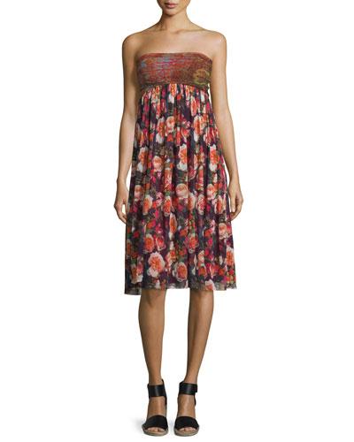 Paisley & Floral-Print Skirt/Dress
