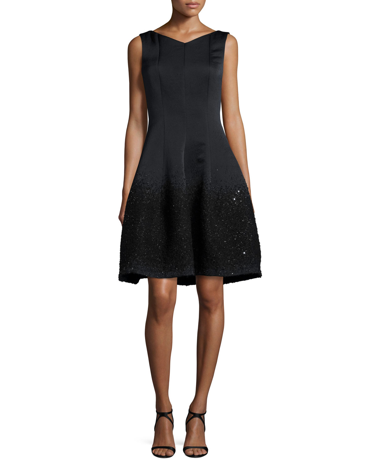 Gomma Degrade-Embellished Cocktail Dress, Black