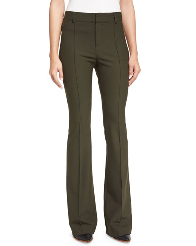 Hibiscus High-Rise Flare Pants, Loden