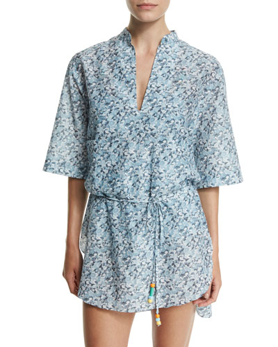 Iconic Print Coverup Tunic