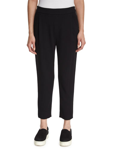 Single-Pleat Peg Pants
