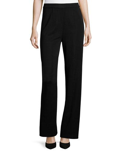 Mid-Rise Wide-Leg Pants, Black, Plus Size
